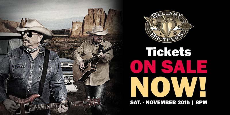 Bellamy Brothers Tickets on Sale Now! Dakota Magic Casino Concerts